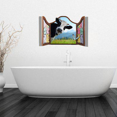 3D Personalized Creative Cute Cow Home Background Wall Stickers