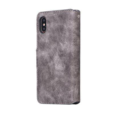 Genuine Leather Protective Folio Case Flip Cover with Stand for iPhone XiPhone Cases/Covers<br>Genuine Leather Protective Folio Case Flip Cover with Stand for iPhone X<br><br>Color: Black,Brown,Gray,Dark blue<br>Compatible for Apple: iPhone X<br>Features: Cases with Stand, With Credit Card Holder, Anti-knock, Dirt-resistant<br>Material: Genuine Leather, TPU<br>Package Contents: 1 x Case<br>Package size (L x W x H): 15.20 x 8.20 x 1.70 cm / 5.98 x 3.23 x 0.67 inches<br>Package weight: 0.0630 kg<br>Product size (L x W x H): 15.00 x 8.00 x 1.50 cm / 5.91 x 3.15 x 0.59 inches<br>Product weight: 0.0600 kg<br>Style: Leather, Vintage