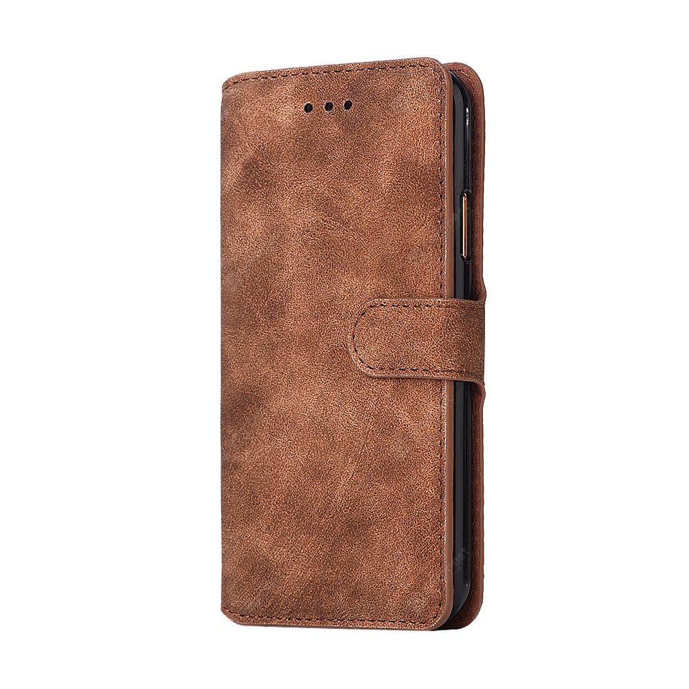 Genuine Leather Protective Folio Case Flip Cover with Stand for iPhone X