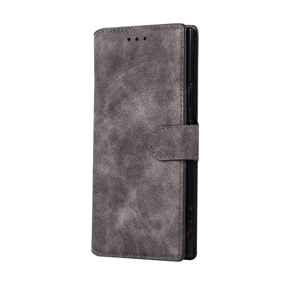 Genuine Leather Protective Folio Case Flip Cover with Stand for Sony XZ1