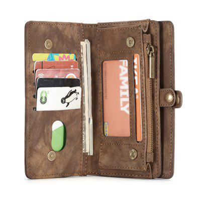 Genuine Leather 11 Card Slots Detachable Wallet Case for iPhone X
