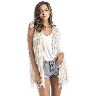 Europe And The United States Autumn And Winter Sleeveless Sweater coat