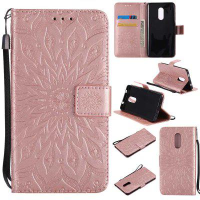 Embossed Sun Flower PU TPU Phone Case for Xiaomi Red Note4x