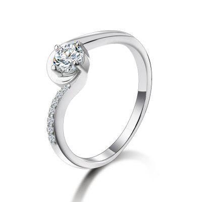 SH - STAR HARVEST 925 gioielli in argento sterling AAA Cubic Zircon Classic Ring for Female