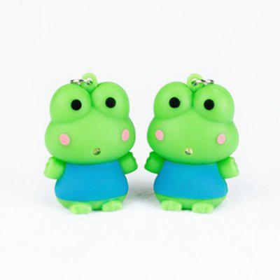 Creative Cute Frog Pendant with Light and Sound Key Chain