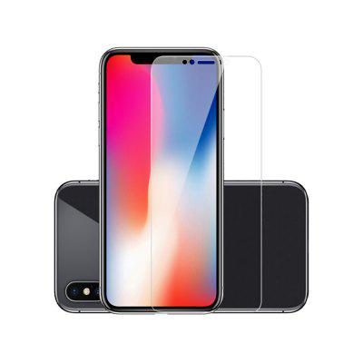 Naxtop 2Pcs Tempered Glass Screen Protector for iPhone X -Transparent