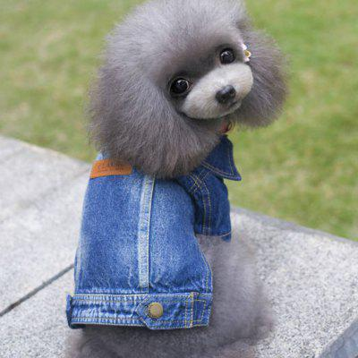 Lovoyager D14 New Casual Fashion Pets Plus Size True Denim Jacket Jean Coats for Dog Puppy