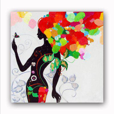 Happy Art Handed Canvas Fashion People Girl Oil Painting Wall