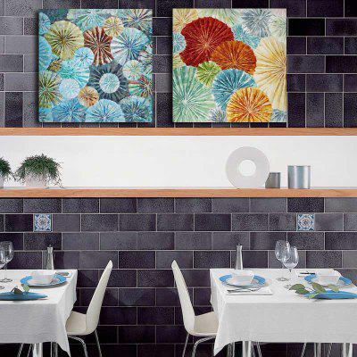 Happy Art Handed Canvas Fashion 2PCS Abstract Oil Painting Wall
