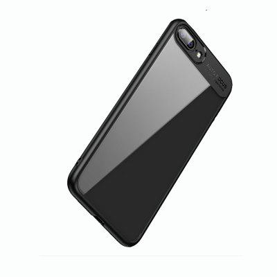 Transparent PC TPU Silicone Cover Case for iPhone 7 Plus elegance tpu pc hybrid back case with kickstand for iphone 7 plus 5 5 inch red