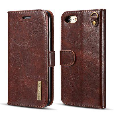 DG.MING Microfiber Genuine Leather 2 in 1 Stand Case for iPhone 7 / 8