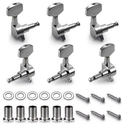 Chrome Guitar String Tuning Pegs Tuners  6 PCS