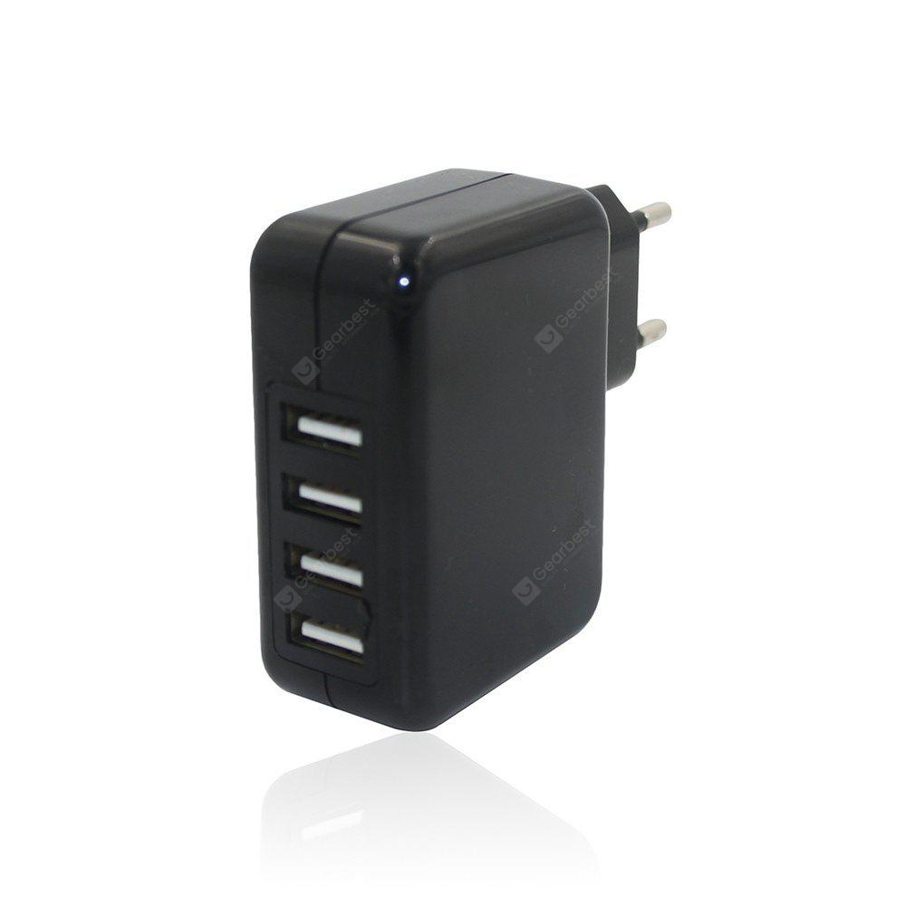 Universal 24W 5V 4.8A 4 portas USB Power Supply Wall Adapter Charger