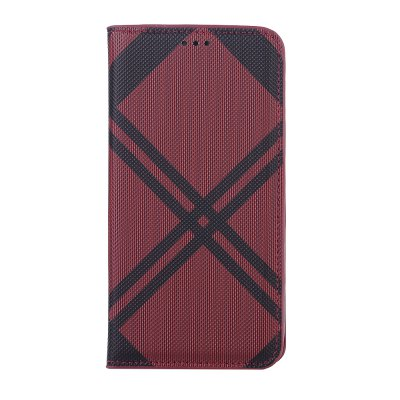 Grid Seven Pattern PU Leather Case for iPhone X