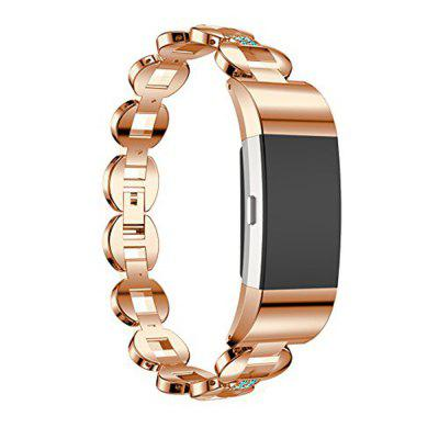 Fitbit Charge 2 Bands Small Large Metal Loop Stainless Steel Metal Bracelet Strap with Unique Magnet Lock Accessories for  HR Fitness Tracker crested milanese loop strap metal frame for fitbit blaze stainless steel watch band magnetic lock bracelet wristwatch bracelet