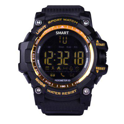 ST 12 Men's Digital BluetoothSports Watch LED Screen Large Face Military Watches and Waterproof Casual Luminous Stopwatch Alarm Simple Army Watch   IP68 SMS Notifier Pedometer for IOS and androd