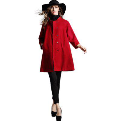 Large Size Lose Cape Typ Wollmantel