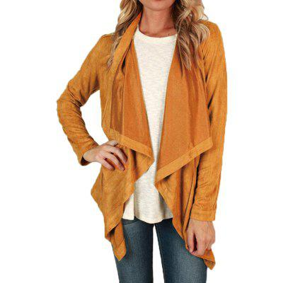 Long Sleeve Solid Color Fashion Coat
