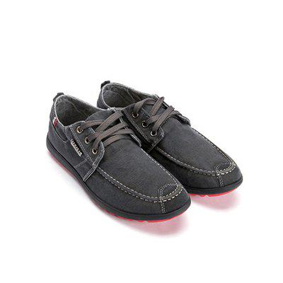 Men's Shoes Solid Color Leisure and Comfortable Canvas Shoes