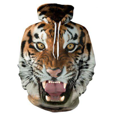 Buy TIGER PRINT XL Men's 3D Print Hooded Tiger Print Sweatshirt for $19.99 in GearBest store