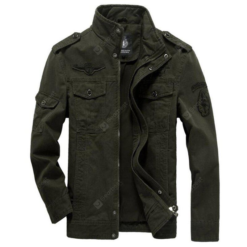 Herren Casual Daily Simple Winterjacke Solide Stehen Langarm