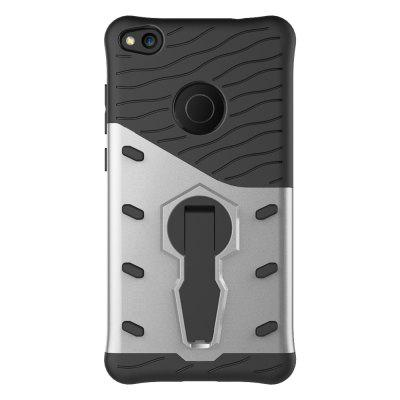 Shockproof with Stand 360 Rotation Back Cover Contrast Color Hard PC Case for Huawei P8 Lite (2017)