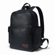 HAUT TON Fashion Genuine Leather Backpack Laptop Travel School Daypack for Men