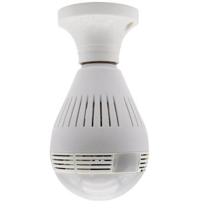 Wireless WIFI IP Camera Panoramic 360 Degree Bulb LED Lights 960P For Home Security