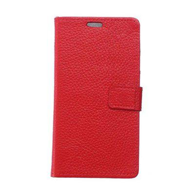 Cowhide Genuine Leather Wallet Stand Case for BQ Aquaris X Pro