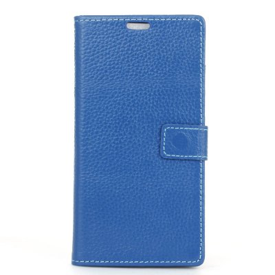Cowhide Genuine Leather Wallet Stand Case for LG K8 2017