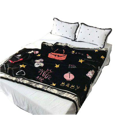 Double Fleece Blanket With Thickened Warmth