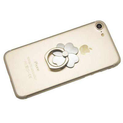 Metal Finger Ring Holder Grip Stand for Any Mobile Phone Tablet Clover Rose