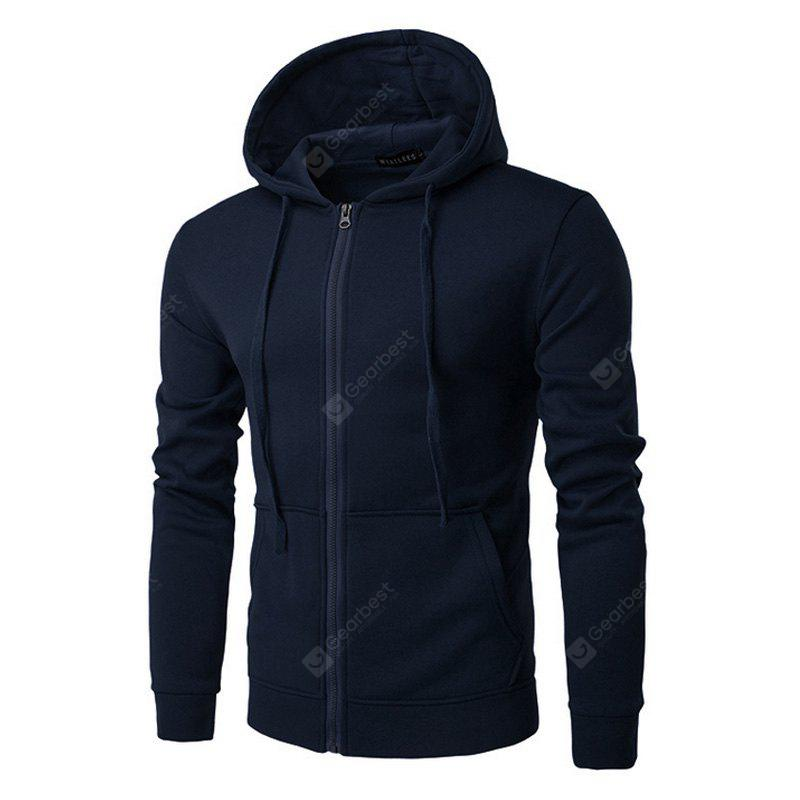 BLACK 2XL Men's Hooded Sweatshirts