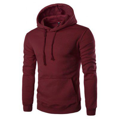 Buy WINE RED L Men'S Long Sleeved Hoodie for $26.20 in GearBest store