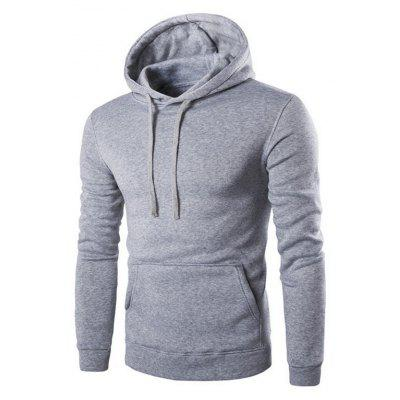 Buy LIGHT GRAY L Men'S Long Sleeved Hoodie for $26.20 in GearBest store