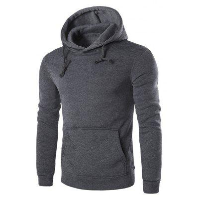 Buy DARK GRAY 2XL Men'S Long Sleeved Hoodie for $26.20 in GearBest store