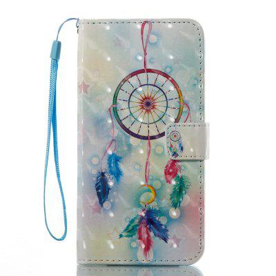 3D Painted Campanula Leather Case for iPhone 8 Plus