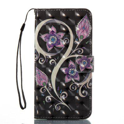 3D Painted Peacock Flowers Leather Case for iPhone 8 Plus