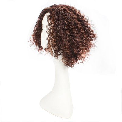 14inch Dark Brown Color Afro Tight Kinky Curly Synthetic Hair Wigs for African American Women top quality synthetic lace front wigs glueless heat resistant afro kinky curly synthetic wigs with baby hair for black women