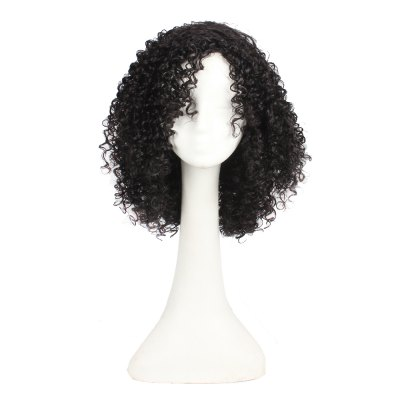 Long Afro Kinky Curly Synthetic Hair Wigs For Women Long Black Color Hair Wig Full Hairstyle