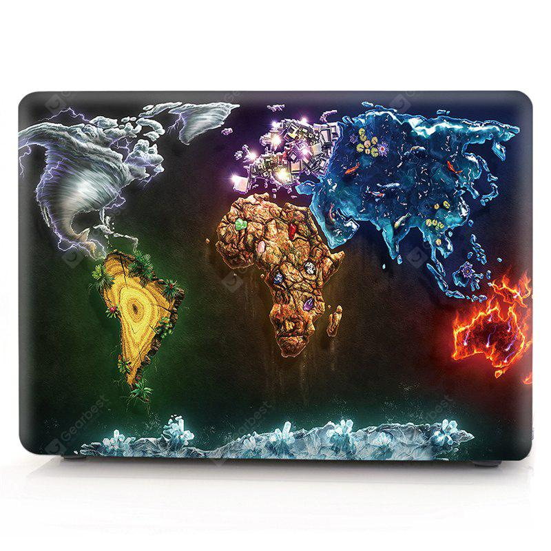 Computador Shell Laptop Case Keyboard Film para MacBook Retina 13.3 polegadas 3D Creative World Map