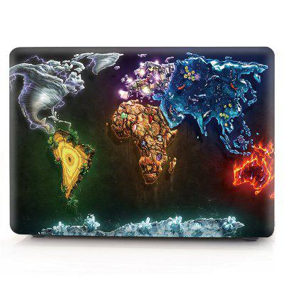 Computador Shell Laptop Case Keyboard Film para MacBook Air 13.3 polegadas 3D Creative World Map