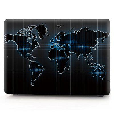 Computador Shell Laptop Case Keyboard Film para MacBook Pro 13.3 polegadas 3D Technology World Map