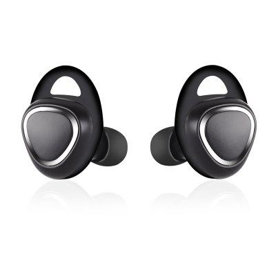 TWS-R150 Miniature Wireless Dual Ear Mini Bluetooth Headset for Super Small Invisible Earplug Type Sports Heavy Bass EarplugsBluetooth Headphones<br>TWS-R150 Miniature Wireless Dual Ear Mini Bluetooth Headset for Super Small Invisible Earplug Type Sports Heavy Bass Earplugs<br><br>Bluetooth Version: 4.0<br>Brand: ?<br>Color: Black,White,Blue<br>Design: Stylish, Classic, Novelty, Sporty<br>Function: Voice control, Support music, Earbuds, MP3, Bluetooth, Portable, Noise-Cancelling, Multipoint connection, Microphone<br>Mainly Compatible with: HTC, Nokia, Blackberry, LG, Sony Ericsson, Motorola, iPod, iPad, iPhone, SAMSUNG<br>Package Contents: 2 x Bluetooth Headphone, 1 x USB Charge Cable, 1 x Manual for use in English and Chinese, 1 x Charging box<br>Package size (L x W x H): 10.00 x 10.40 x 4.00 cm / 3.94 x 4.09 x 1.57 inches<br>Package weight: 0.1110 kg<br>Product size (L x W x H): 2.64 x 1.89 x 2.64 cm / 1.04 x 0.74 x 1.04 inches<br>Product weight: 0.0080 kg<br>Standby time: 1-5 days<br>Track: Stereo<br>Transmission range: 10 meters<br>Usage mode: Other, Earphone