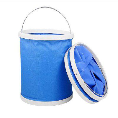 Folding Bucket Car Wash Outdoor Portable Fishing Retractable Oxford 9L harlem hl802 multifuction foldable portable thicken car bucket 9l