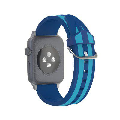 Double Stripe Silicone Apple Watch Band Replacement Bracelet Strap for IWatch Series 1 / 2 / 3 38MM