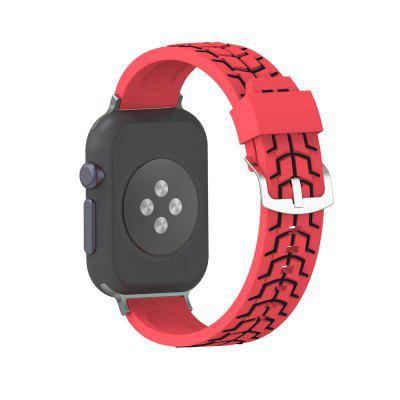 38 MM Silicone Fish Bone Texture Band for Apple Watch Band Replace Bracelet Strap