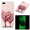 Love Tree Luminous Ultra fino Slim Soft TPU caso de silicone para iPhone 7 Plus / 8 Plus - COLORIDO