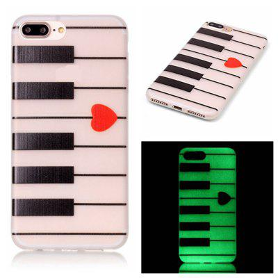 Piano Luminoso Ultra fino Slim Soft TPU caso de silicone para iPhone 7 Plus / 8 Plus