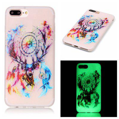 Deer Head Luminous Ultra Thin Slim Soft TPU caso de silicone para iPhone 7 Plus / 8 Plus